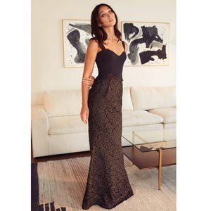 Dress the Population Lorena Lace Mermaid Gown